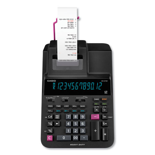 Casio® DR-270R Printing Calculator, 2 Print, 4.8 Lines/Sec