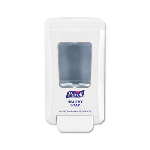 "PURELL® FMX-20 Soap Push-Style Dispenser, 2000 mL, 4.68"" x 6.6"" x 11.66"", White, 6/Carton"