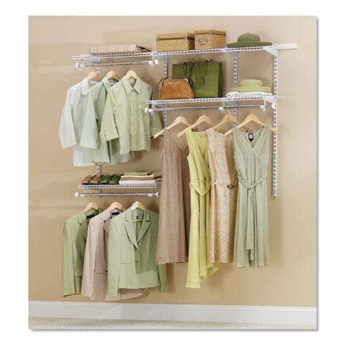 Configurations Custom Closet Starter Kit, 5 Shelves, 36 to 72w x 16d x 47.5h, White