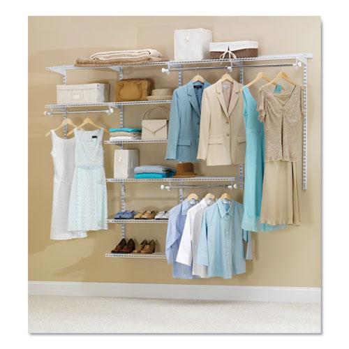 Configurations Custom Closet Kit, 9 Shelves, 13.75 x 3.125 x 49.25, White