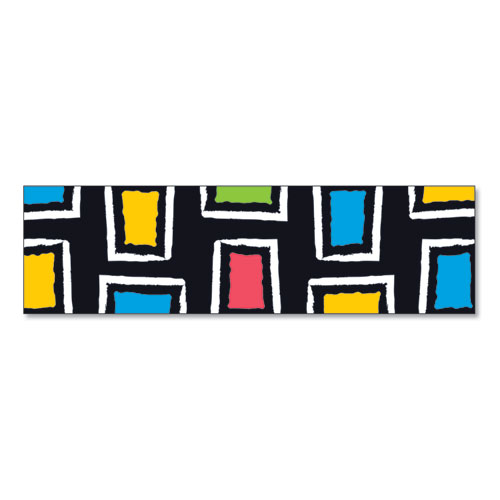 Bolder Borders, 2 3/4 x 42, Bold Strokes Rectangles, Assorted