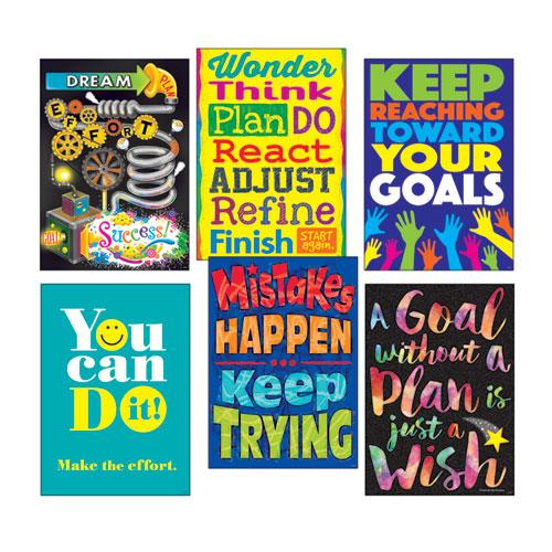 "ARGUS Poster Combo Pack, ""Goal-Getter"", 13 3/8w x 19h"