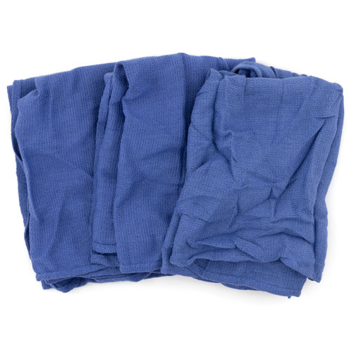 Reclaimed Surgical Huck Towel, Blue, 25 Towels/Carton