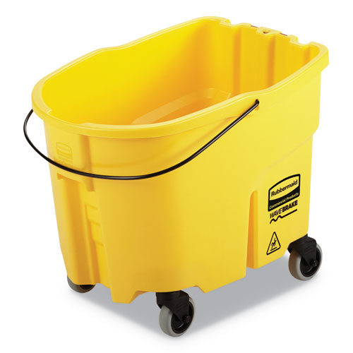 WaveBrake 2.0 Bucket, 8.75 gal, Plastic, Yellow