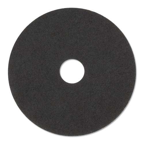 Stripper Floor Pads 7200, 14 Diameter, Black, 5/Carton