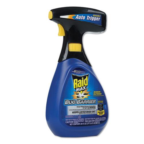 Raid® Max Bug Barrier, 128 oz Bottle, 4/Carton