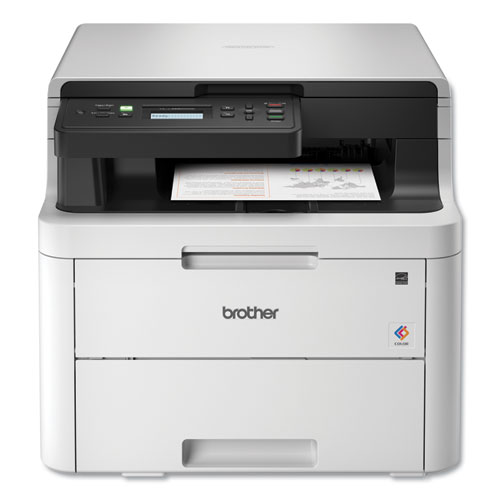 Brother HLL3290CDW Compact Digital Color Printer with Convenient Flatbed Copy and Scan, Plus Wireless and Duplex Printing