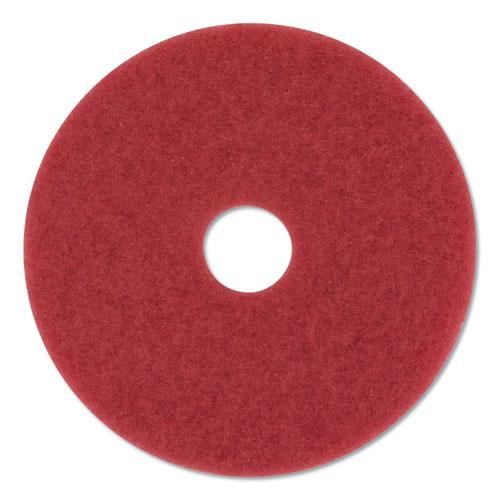 "3M™ Low-Speed Buffer Floor Pads 5100, 19"" Diameter, Red, 5/Carton"