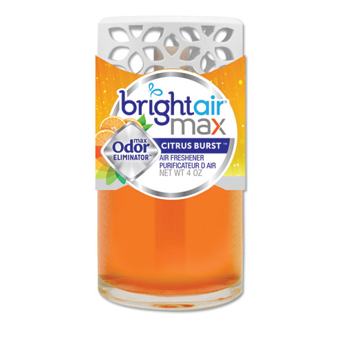 BRIGHT Air® Max Scented Oil Air Freshener, Cool and Clean, 4 oz, 6/Carton