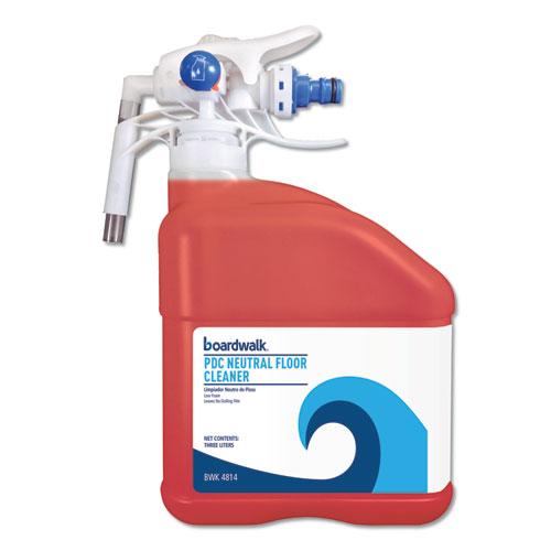 Boardwalk® PDC Neutral Floor Cleaner, Tangy Fruit Scent, 3 Liter Bottle, 2/Carton