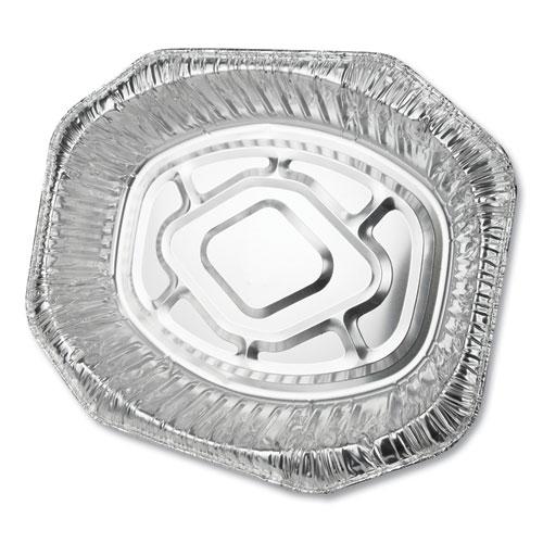 Aluminum Roaster Pans, Extra-Large Oval, 50/Carton