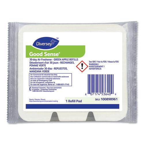 Diversey™ Good Sense 30-Day Air Freshener, Green Apple and Fresh, 1.19 lb, 12/Carton