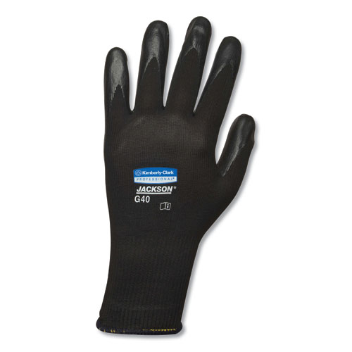 Jackson Safety* G40 Polyurethane Coated Gloves, 220 mm Length, Small, Black, 60 Pairs
