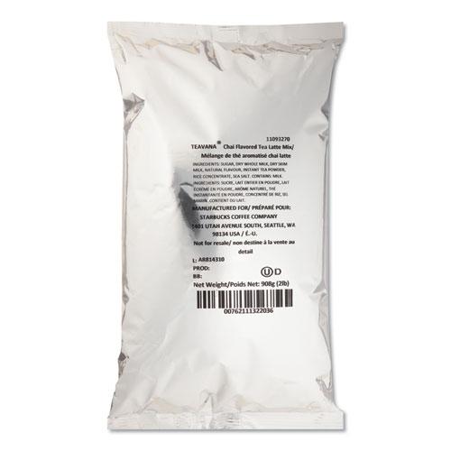 Teavana Chai Tea Latte Mix, Chai Latte, 2 lb, Bag, 6/Carton