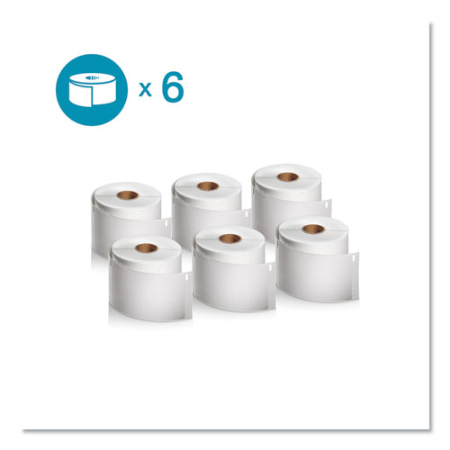 LW Shipping Labels, 2.31 x 4, White, 300/Roll, 6 Rolls/Pack
