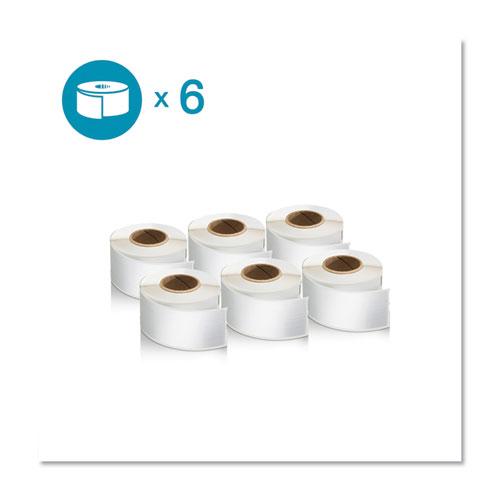 LW 1-Up File Folder, 0.56 x 3.43, White, 130/Roll, 6 Rolls/Pack