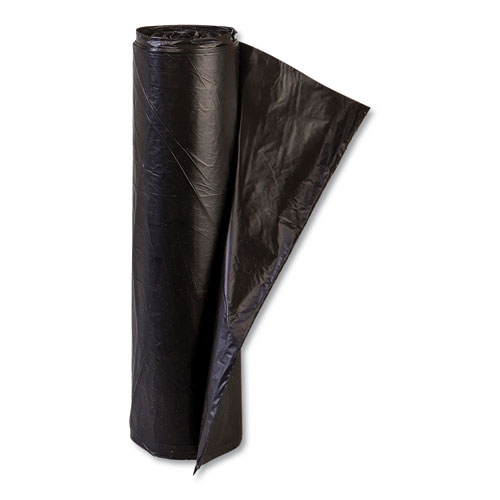 High-Density Commercial Can Liners, 45 gal, 14 microns, 48 x 40, Black, 250/Carton