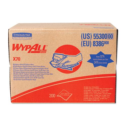 WypAll® X70 Cloths, Flat Sheet, 14.9 x 16.6, White, 300/Carton