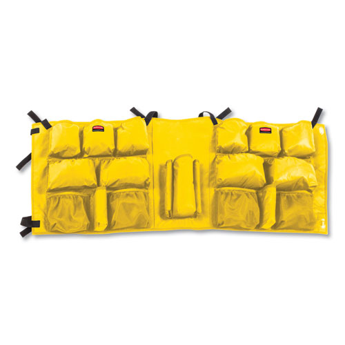 Slim Jim Caddy Bag, 19 Compartments, 10.25w x 19h, Yellow