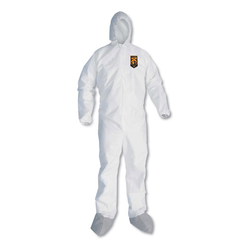 A45 Liquid/Particle Protection Surface Prep/Paint Coveralls, XL, White, 25/CT