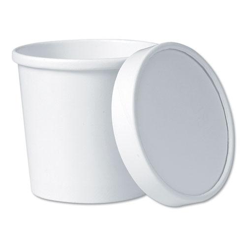 Flexstyle Food Lid Container, 3.6 Dia., 12.1 oz, White, 250/Carton