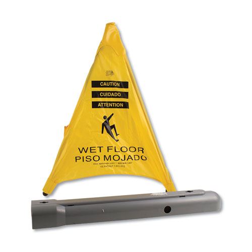 Pop Up Safety Cone, 3 x 2 1/2 x 30, Yellow