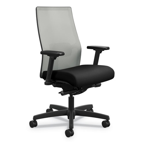 Ignition 2.0 4-Way Stretch Mid-Back Mesh Task Chair, Supports up to 300 lbs., Black Seat, Fog Back, Black Base