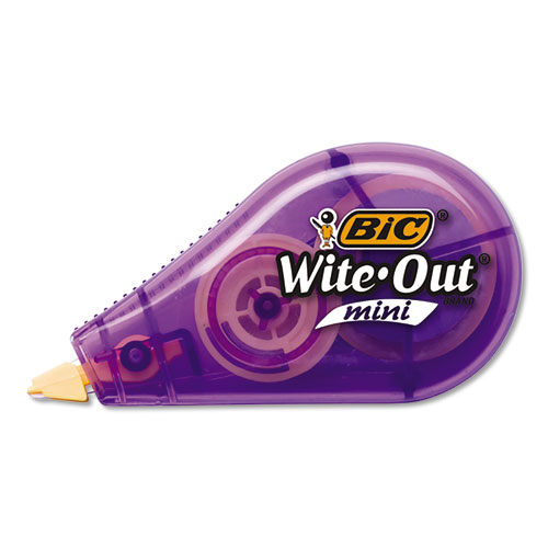 Wite-Out Brand Mini Correction Tape, Non-Refillable, 1/5 w x 26.2 ft, Assorted