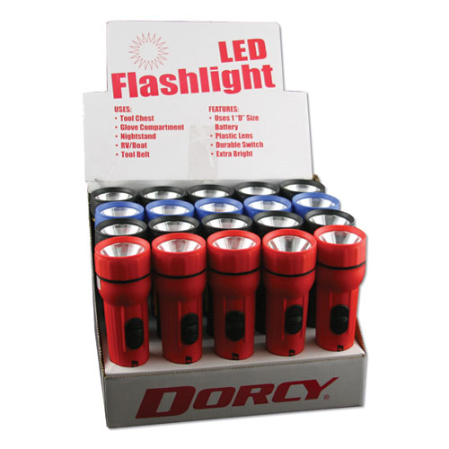 DORCY® LED Utility Flashlight, 1 D Battery, Assorted | Abel