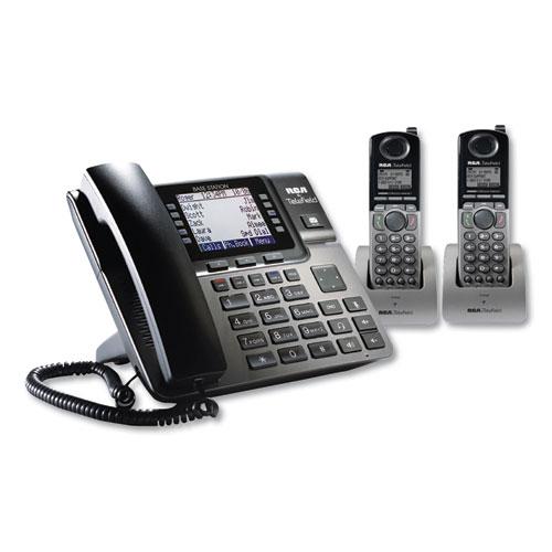 Unison 1-4 Line Wireless Phone System Bundle, 2 Additional Cordless Handsets