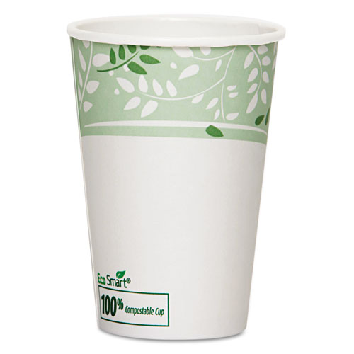 EcoSmart Hot Cups, Paper w/PLA Lining, Viridian, 16oz, 1000/Carton 2346PLA