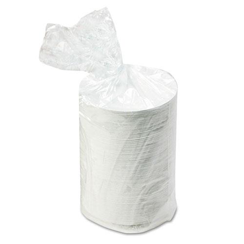 "White Paper Plates, 6"" dia, 500/Packs, 2 Packs/Carton | by Plexsupply"