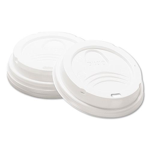 Drink-Thru Lid, Fits 8oz Hot Drink Cups, White, 1000/Carton 9538DX