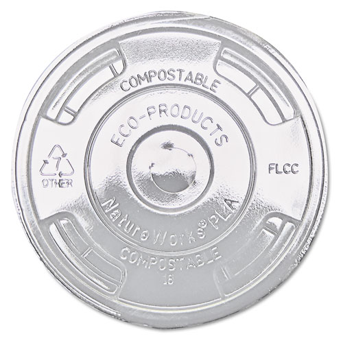 GreenStripe Renewable & Compost Cold Cup Flat Lids, F/9-24oz., 100/PK, 10 PK/CT EPFLCC