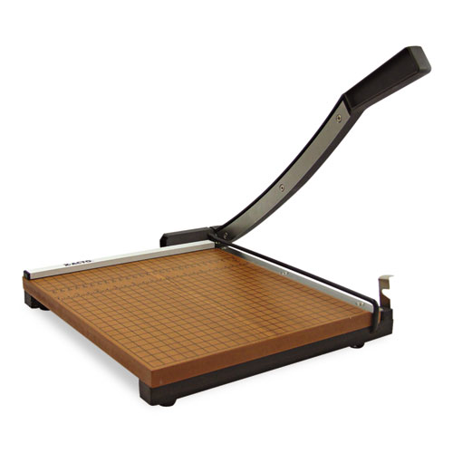 X Acto Square Commercial Grade Wood Base Guillotine Trimmer