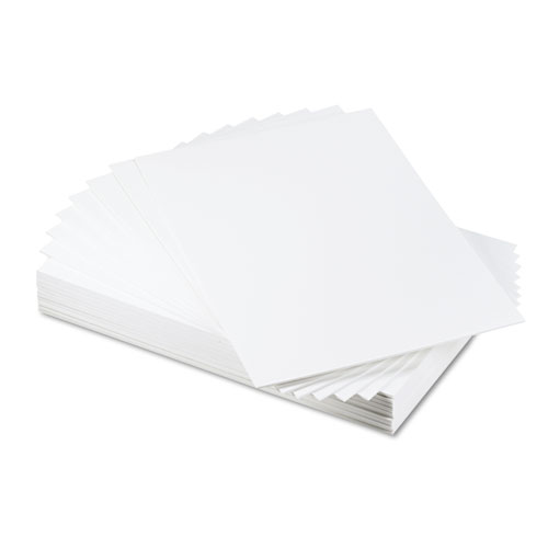 CFC-Free Polystyrene Foam Board, 20 x 30, White Surface and Core, 25/Carton | by Plexsupply