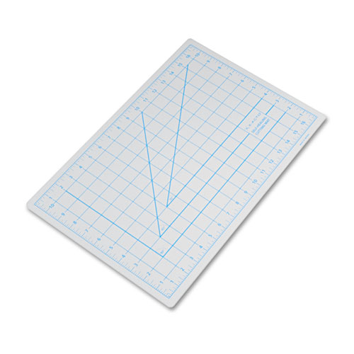 "Self-Healing Cutting Mat, Nonslip Bottom, 1"" Grid, 12 x 18, Gray 