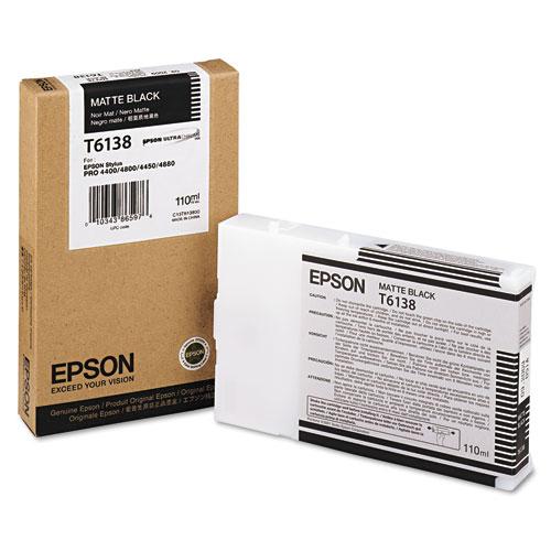 Epson® T613800 (61) Ink, Matte Black