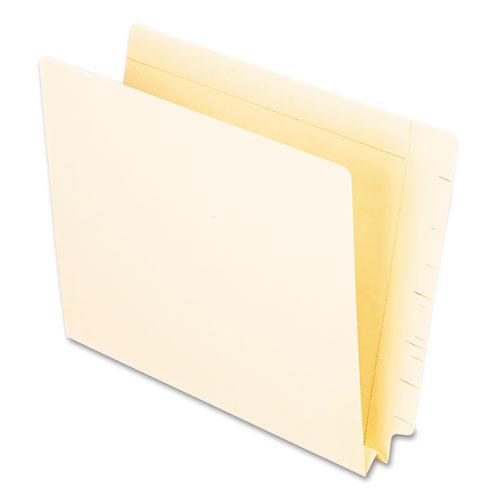 Manila End Tab Expansion Folders, Straight Tab, Letter Size, 50/Box | by Plexsupply