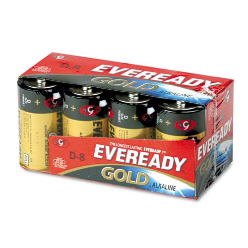 Eveready® Gold D Batteries, 1.5V, 8/Pack