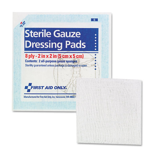 SmartCompliance Gauze Pads, 2 x 2, 5/Pack