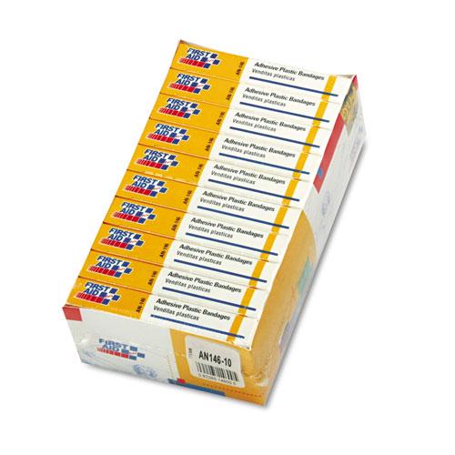 "Plastic Adhesive Bandages, 1"" x 3"", 160/Pack"