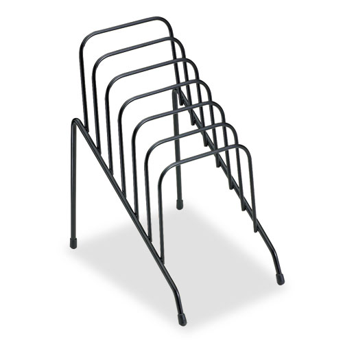"""Wire Step File Jr., 6 Sections, DL to A5 Size Files, 4.38"""" x 6.5"""" x 7.75"""", Black 