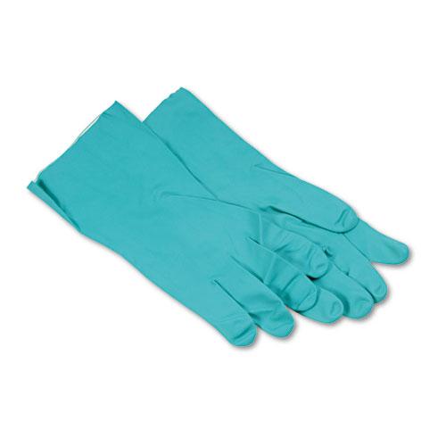 Boardwalk® Nitrile Flock-Lined Gloves, X-Large, Green, Dozen
