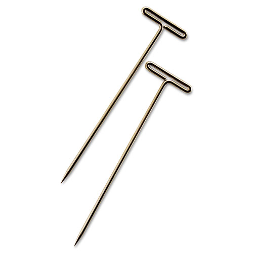 T-Pins, Steel, Silver, 1 1/2, 100/Box