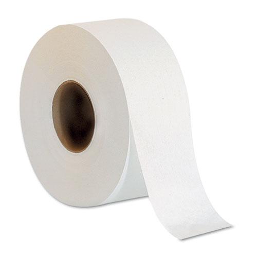 Jumbo Jr. Bathroom Tissue Roll, Septic Safe, 2-Ply, White, 1000 ft, 8 Rolls/Carton