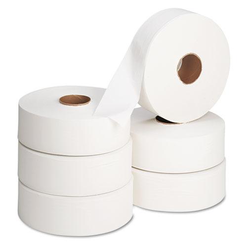 Jumbo Roll Bath Tissue, Septic Safe, 2 Ply, White, 2000 ft, 6 Rolls/Carton