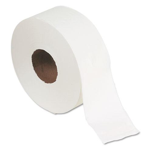 Jumbo Jr. Bath Tissue Roll, Septic Safe, 2-Ply, White, 1000 ft, 8 Rolls/Carton