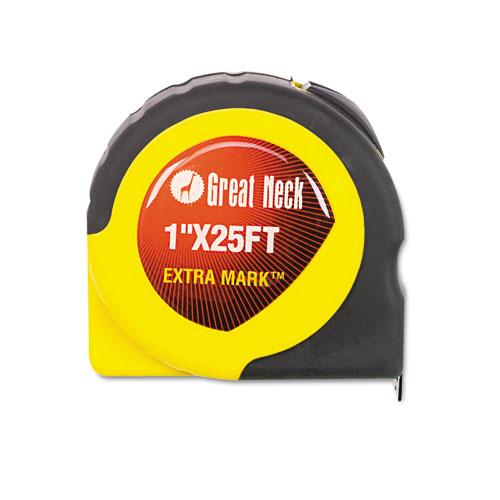 ExtraMark Power Tape, 1 x 25ft, Steel, Yellow/Black