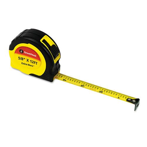 "ExtraMark Power Tape, 5/8"" x 12ft, Steel, Yellow/Black"